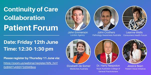 Continuity of Care Patient Forum Webinar