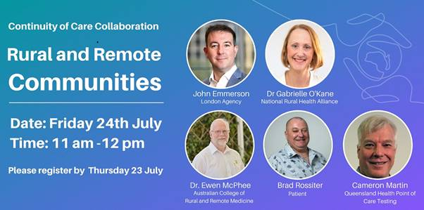 Continuity of Care Rural and Remote communities Webinar